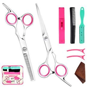 Bangs Hair Scissor Thin Flat Cut Cutting Teeth Barber Scissors Combination Set