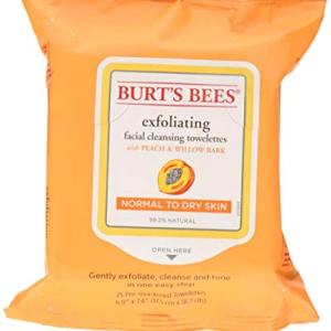 Burt's Bees Facial Cleansing Towelettes, Peach and Willow Bark