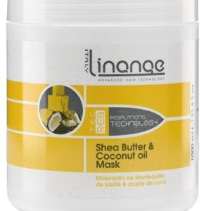 Linange Shea Butter and Coconut Oil Mask 1000ml; Softening, Strengthening