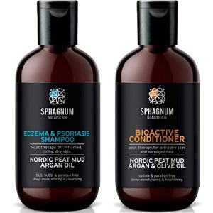 Psoriasis Shampoo and Conditioner Set - Complete Peat Mud Therapy