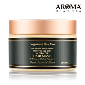 Aroma Premium Hair Mask - 600ml, Honey Egg Yolk Olive Oil Dry Hair Mask