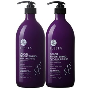 Luseta Color Brightening Purple Shampoo and Conditioner Set