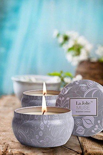 LA JOLIE MUSE Scented Candles Blue Lotus Aromatherapy Candle Soy Wax LA JOLIE MUSE: ECO--FRIENDLY CANDLE