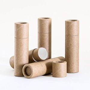 6 mL Kraft Paperboard Lip Balm/Salve/Cosmetic/Lotion Tubes