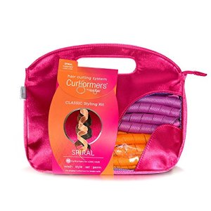 Curlformers Hair Curlers Spiral Curls Styling Kit, 40 No Heat Hair Curlers