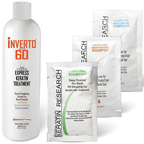INVERTO 60 Advanced Gel Complex Brazilian Keratin Hair Blowout Treatment