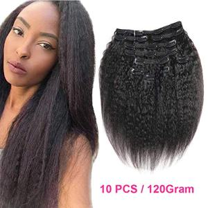 Urbeauty Kinkys Straight Clip in Hair Extensions Human Hair