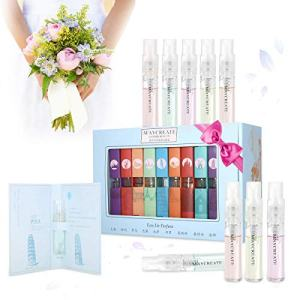 9 Pcs Mini Perfume Gift Set for Women, LuckyFine 9 Scent City Fragrances Kit
