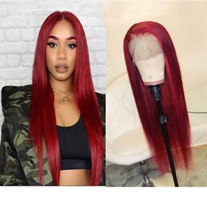 Wicca Hair Red Color Natural Looking Lace Front Wigs for Fashion Women