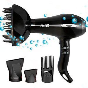 Blow Dryer Berta Salon Professional Negative Ionic 1875W High-Power