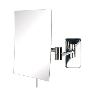 Jerdon 6.5-Inch by 8.75-Inch Wall Mount Rectangular Makeup Mirror
