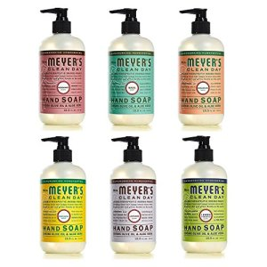 Mrs. Meyers Clean Day Liquid Hand Soap 6 Scent Variety Pack