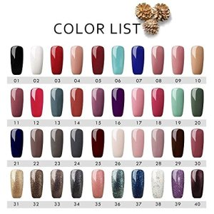Saint-Acior Gel Nail Polish Starter Set 40pcs Soak Off UV LED