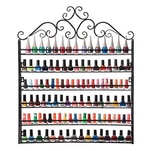 Dazone DIY Mounted 6 Shelf Nail Polish Wall Rack Organizer Holds