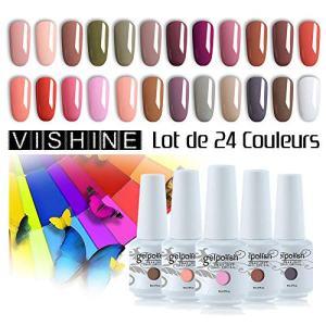 Vishine 24 Colors Gift Set Gel Nail Polish Kit Soak Off UV LED Nail Gel Polishes