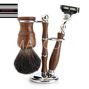 wooden vintage classic luxury shaving sets Badger hair shaving Brush