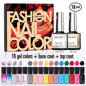 Modelones Gel Nail Polish Set - 16 Color Gel Nail Polish 6ml Mini Size