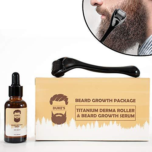 Derma Roller for Beard Growth + Beard Growth Serum