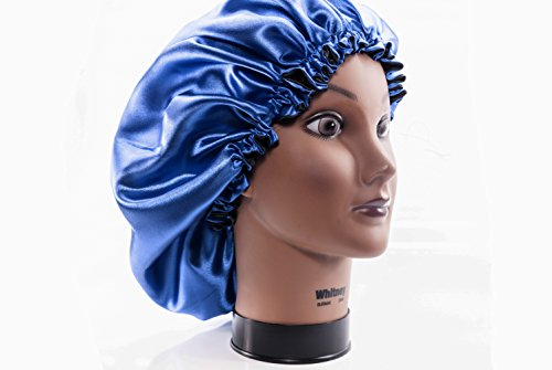 """(X-Large, ROYAL BLUE) New 24"""" Handmade Fully Reversible Luxuries Pure Satin Our satin sleep caps are 100% handmade and nice for individuals with braids, dreadlocks, or to be used with rollers or flexi-rods. Roughly 24 inches in diameter and Elastic measures 20 inches earlier than it's all sewn collectively. Made within the USA with 100% pure satin whose properties embrace moisture retention, prevention of hair loss and minimization of stress and stress on the hair, scalp and pores and skin. This satin bonnet comes each lovely and trendy. That is the BEST in satin hair safety for you! Improve your nightly hair routine with this GORGEOUS satin bonnet!"""