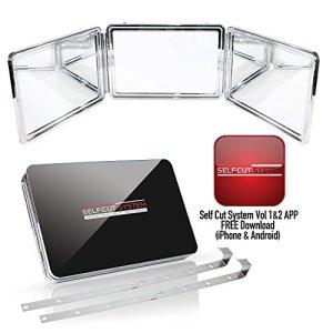 SELF-CUT SYSTEM: Perfecting Self Grooming - Black Lambo 3-Way Mirror
