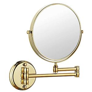 Makeup Mirror Wall Mount 8 Inch Dual Side with 1x/5x Magnification Bathroom