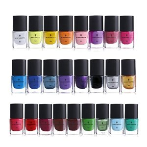 BORN PRETTY 6ml Nail Art Stamping Polish Colourful Manicuring Plate
