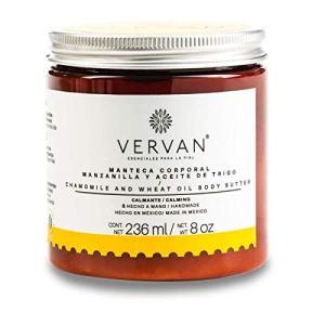 Vervan Sensitive Skin Body Butter Lotion, Natural Chamomile & Wheat Oil