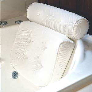 Bath Pillow Bathtub Spa Pillow, Non-slip 6 Large Suction Cups