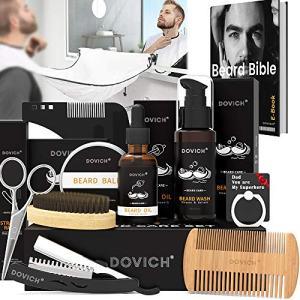 12 In 1 Beard Grooming Care Kit For Men, Dovich 100% Natural Beard Oil