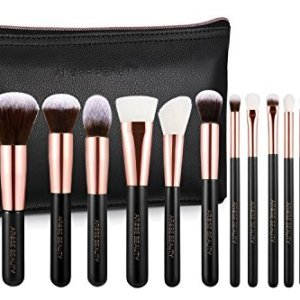 Amazon Brand - Arose Beauty Rose Gold Luxury Brush Set