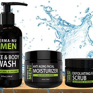 Mens Skin Care Set, Organic Skin Care for Men with Natural Face Wash