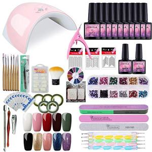 Saint-Acior Gel Nail Polish Starter Kit with 36W Nail Light Manicure Tools