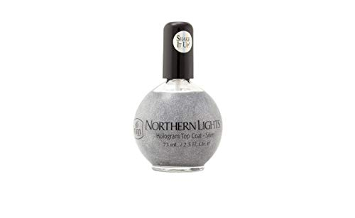 INM Northern Lights Hologram Top Coat Silver