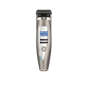 Conair Man i-Stubble Ultimate Flexhead Trimmer; Pivoting Flex Head; 15 Digital Settings ranging from 0.4mm to 5.0mm; Grey