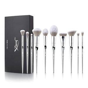 Jessup cosmetic brush set - 10pcs luxury makeup brushes