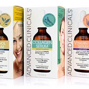 Advanced Clinicals Complete Skin Care Set with Anti-Aging Retinol Serum