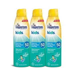 Coppertone KIDS Sunscreen Continuous Spray SPF 50 (5.5 Ounce, Pack of 3)