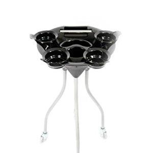 Beauty Salon Black Hair Color Tray Portable Utility Cart