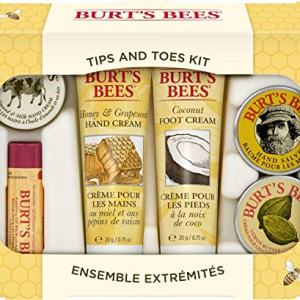 Burt's Bees Tips and Toes Kit Gift Set, 6 Travel Size Products in Gift Box