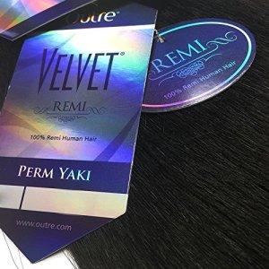 Velvet Remi Human Hair Weave - PERM YAKI WEAVING