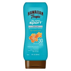 Hawaiian Tropic Island Sport Sunscreen Lotion, Ultra Light, High Performance
