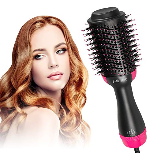 Felicigeely One Step Hair Dryer & Volumizer,Hot Air Brush,3 in1 Styling Brush Styler
