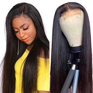Queen Love 4X4 Lace Front Wigs Straight Human Hair Wigs Brazilian Human Hair