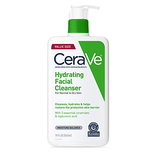 CeraVe Hydrating Face Wash   19 Fluid Ounce   Daily Facial Cleanser for Dry Skin
