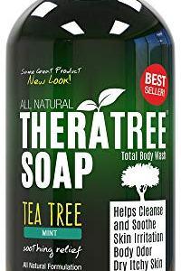 TheraTree Tea Tree Oil Soap with Neem Oil - 12oz - Helps Skin Irritation