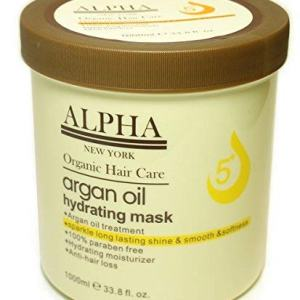 Argan Oil Original Hydrating Mask Hair Repair By Alpha New York 1000 ml