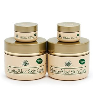 Infinite Aloe Skin Care Cream, Fragrance Free, 2-8oz Jars