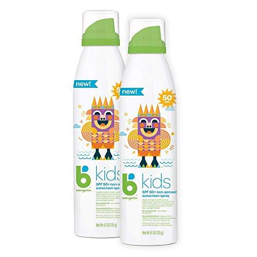 Babyganics Sunscreen Continuous Spray 50 SPF, 6oz, 2 Pack