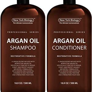 New York Biology Moroccan Argan Oil Shampoo and Conditioner