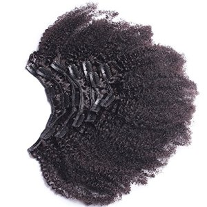 Afro Kinky Curly Clip In Human Hair Extensions Mongolian Virgin Human Hair